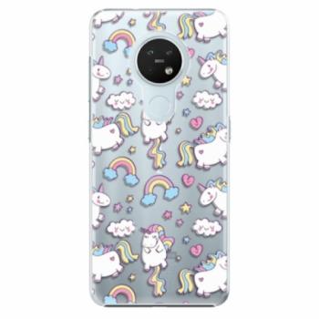 Plastové pouzdro iSaprio - Unicorn pattern 02 - Nokia 7.2