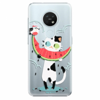 Plastové pouzdro iSaprio - Cat with melon - Nokia 7.2