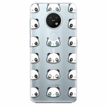 Plastové pouzdro iSaprio - Panda pattern 01 - Nokia 7.2