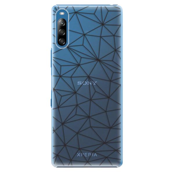 Plastové pouzdro iSaprio - Abstract Triangles 03 - black - Sony Xperia L4
