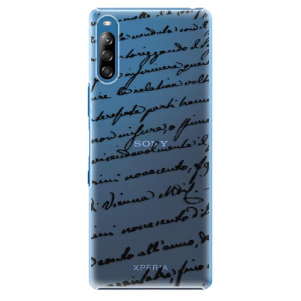 Plastové pouzdro iSaprio - Handwriting 01 - black - Sony Xperia L4