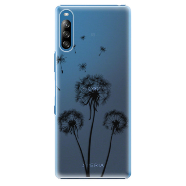 Plastové pouzdro iSaprio - Three Dandelions - black - Sony Xperia L4