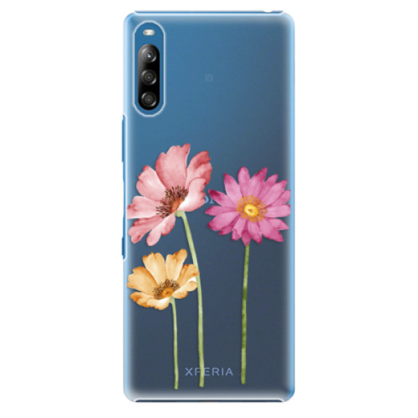 Plastové pouzdro iSaprio - Three Flowers - Sony Xperia L4