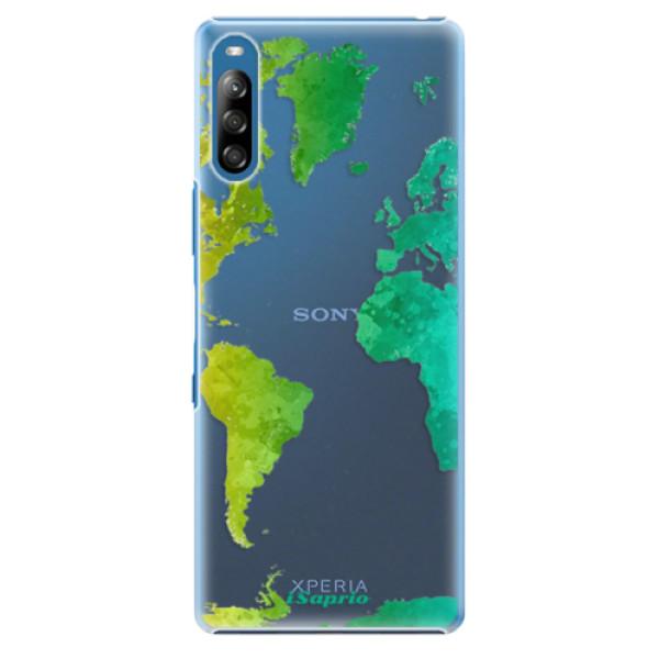 Plastové pouzdro iSaprio - Cold Map - Sony Xperia L4