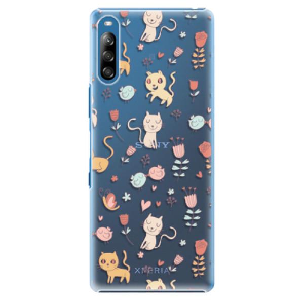 Plastové pouzdro iSaprio - Cat pattern 02 - Sony Xperia L4