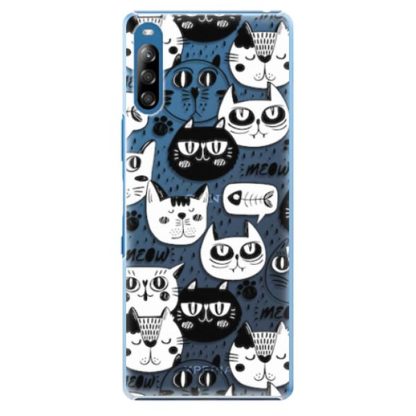 Plastové pouzdro iSaprio - Cat pattern 03 - Sony Xperia L4
