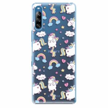 Plastové pouzdro iSaprio - Unicorn pattern 02 - Sony Xperia L4