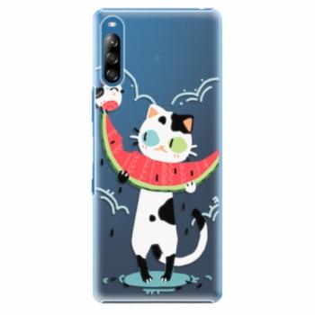 Plastové pouzdro iSaprio - Cat with melon - Sony Xperia L4