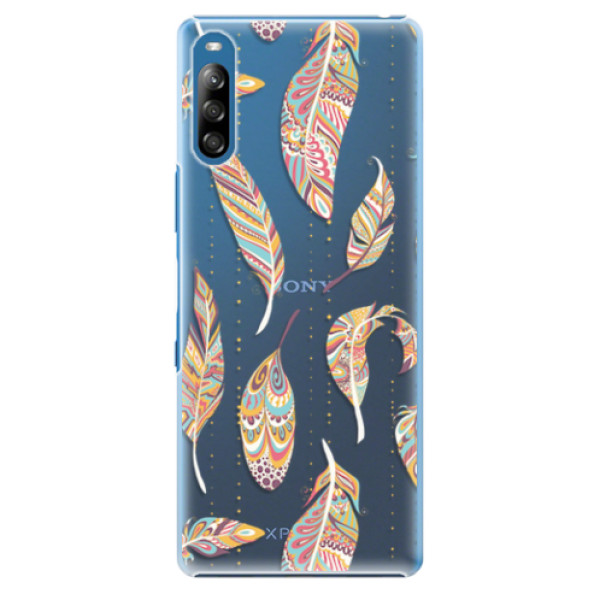 Plastové pouzdro iSaprio - Feather pattern 02 - Sony Xperia L4
