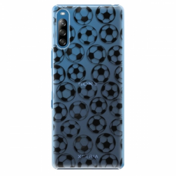 Plastové pouzdro iSaprio - Football pattern - black - Sony Xperia L4