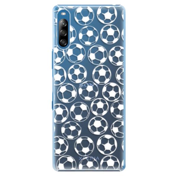 Plastové pouzdro iSaprio - Football pattern - white - Sony Xperia L4