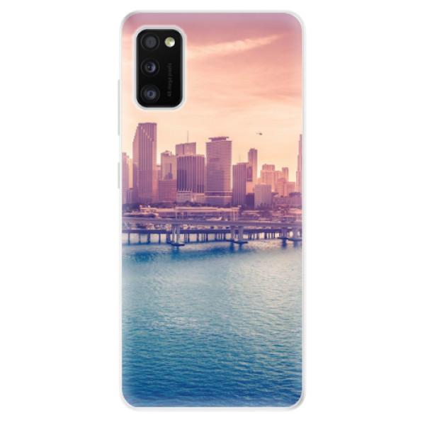 Odolné silikonové pouzdro iSaprio - Morning in a City - Samsung Galaxy A41
