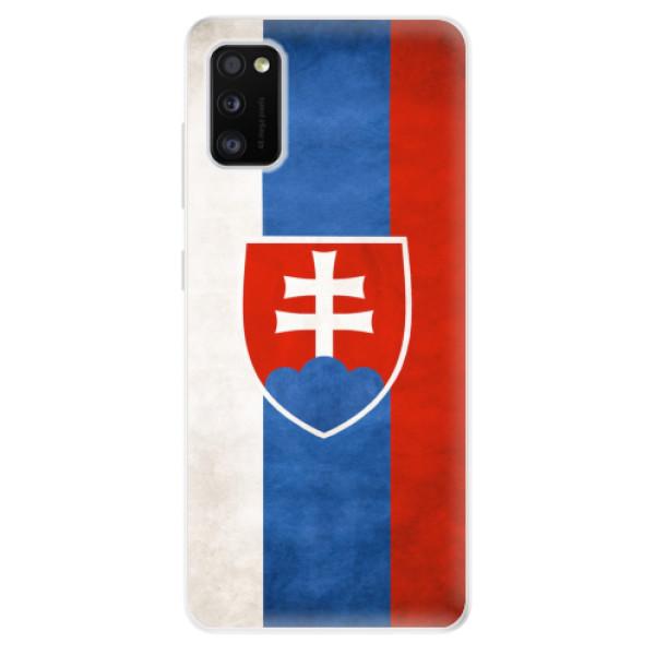 Odolné silikonové pouzdro iSaprio - Slovakia Flag - Samsung Galaxy A41