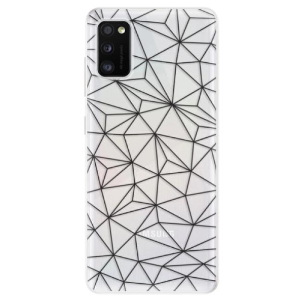 Odolné silikonové pouzdro iSaprio - Abstract Triangles 03 - black - Samsung Galaxy A41