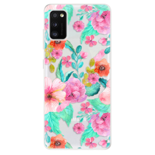 Odolné silikonové pouzdro iSaprio - Flower Pattern 01 - Samsung Galaxy A41
