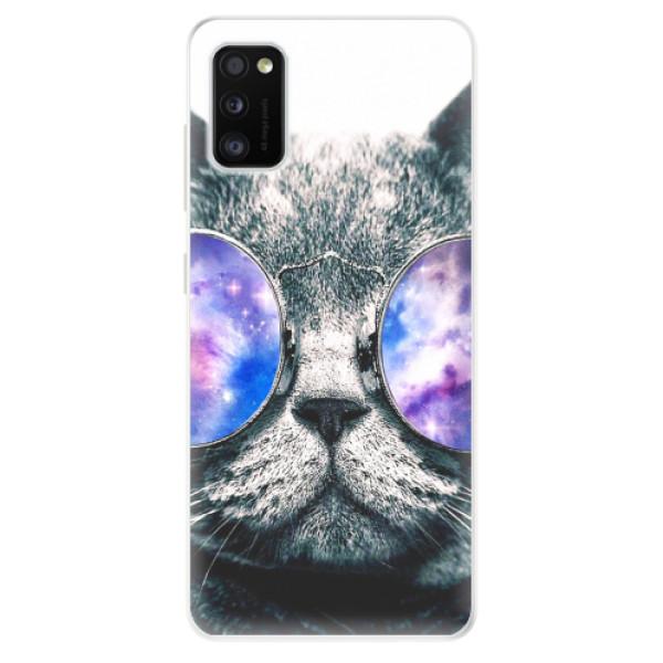 Odolné silikonové pouzdro iSaprio - Galaxy Cat - Samsung Galaxy A41