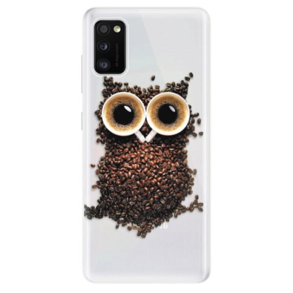 Odolné silikonové pouzdro iSaprio - Owl And Coffee - Samsung Galaxy A41