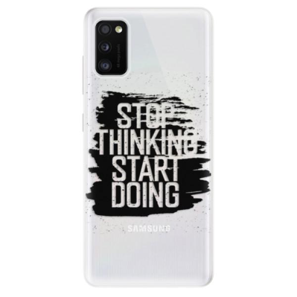 Odolné silikonové pouzdro iSaprio - Start Doing - black - Samsung Galaxy A41