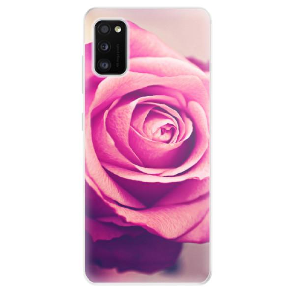 Odolné silikonové pouzdro iSaprio - Pink Rose - Samsung Galaxy A41