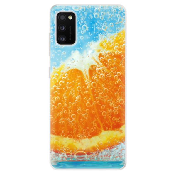 Odolné silikonové pouzdro iSaprio - Orange Water - Samsung Galaxy A41