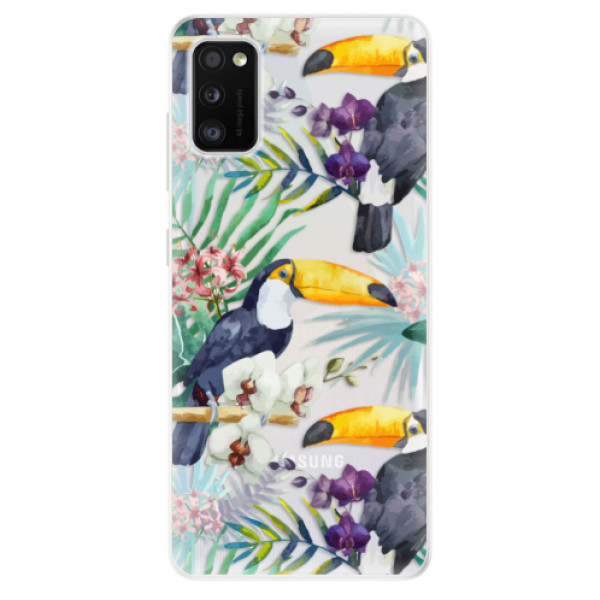 Odolné silikonové pouzdro iSaprio - Tucan Pattern 01 - Samsung Galaxy A41
