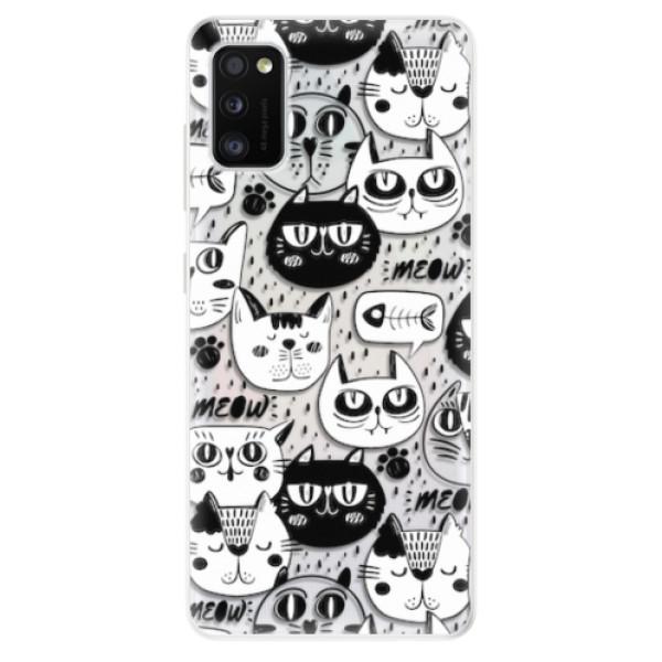 Odolné silikonové pouzdro iSaprio - Cat pattern 03 - Samsung Galaxy A41