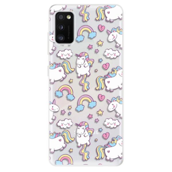 Odolné silikonové pouzdro iSaprio - Unicorn pattern 02 - Samsung Galaxy A41
