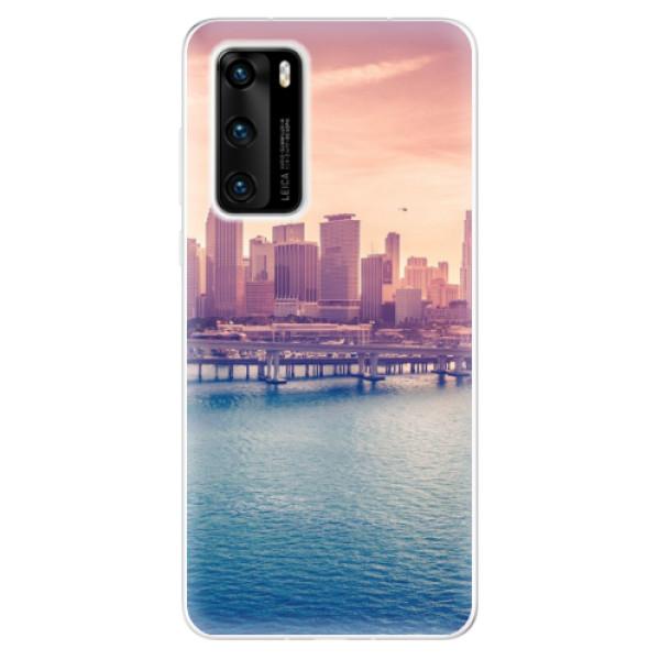 Odolné silikonové pouzdro iSaprio - Morning in a City - Huawei P40