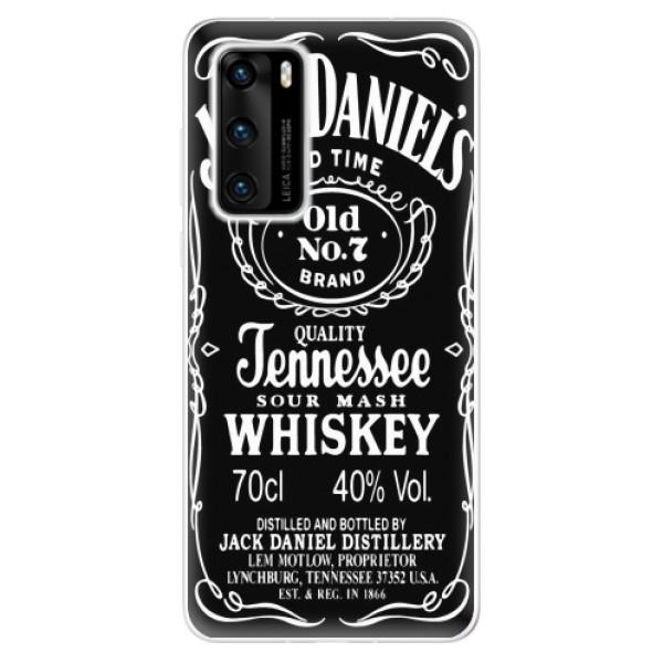Odolné silikonové pouzdro iSaprio - Jack Daniels - Huawei P40