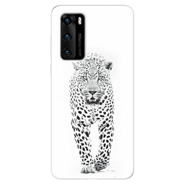 Odolné silikonové pouzdro iSaprio - White Jaguar - Huawei P40