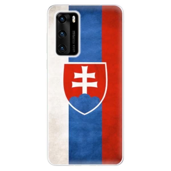 Odolné silikonové pouzdro iSaprio - Slovakia Flag - Huawei P40