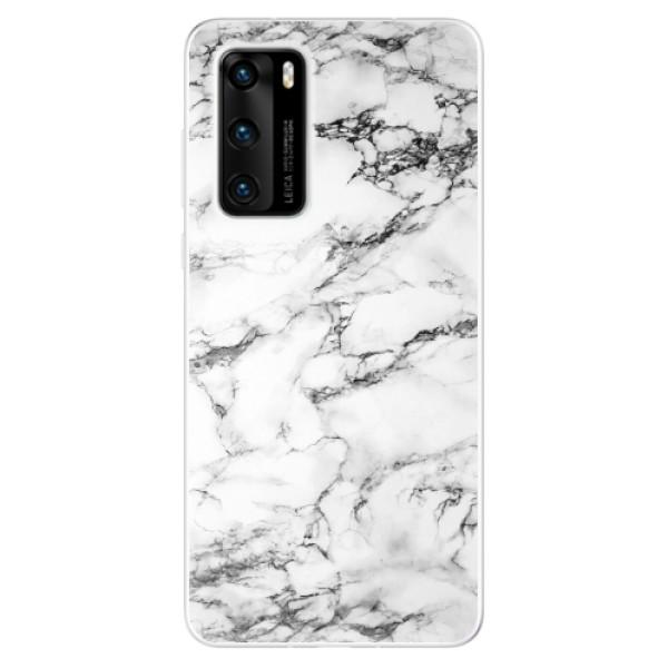 Odolné silikonové pouzdro iSaprio - White Marble 01 - Huawei P40