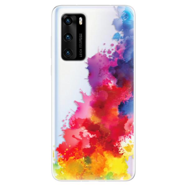 Odolné silikonové pouzdro iSaprio - Color Splash 01 - Huawei P40