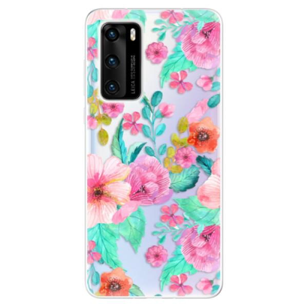 Odolné silikonové pouzdro iSaprio - Flower Pattern 01 - Huawei P40