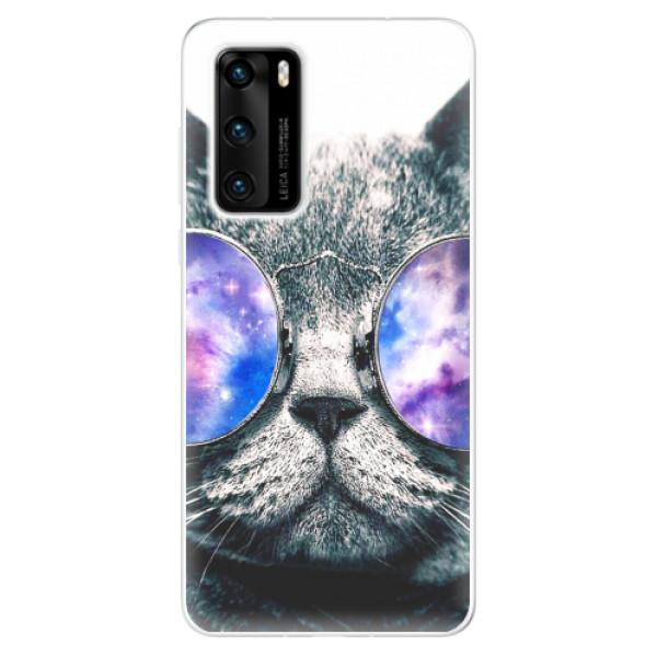 Odolné silikonové pouzdro iSaprio - Galaxy Cat - Huawei P40