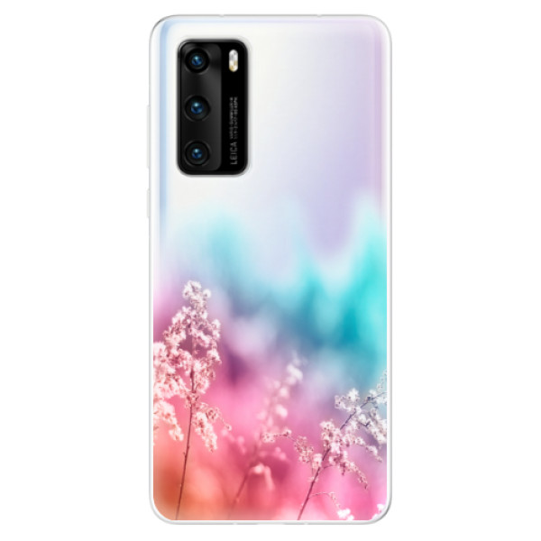 Odolné silikonové pouzdro iSaprio - Rainbow Grass - Huawei P40