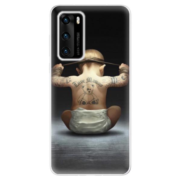Odolné silikonové pouzdro iSaprio - Crazy Baby - Huawei P40