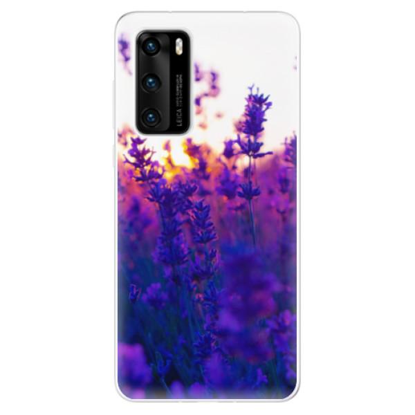 Odolné silikonové pouzdro iSaprio - Lavender Field - Huawei P40