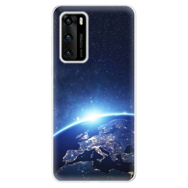 Odolné silikonové pouzdro iSaprio - Earth at Night - Huawei P40