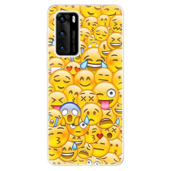 Odolné silikonové pouzdro iSaprio - Emoji - Huawei P40