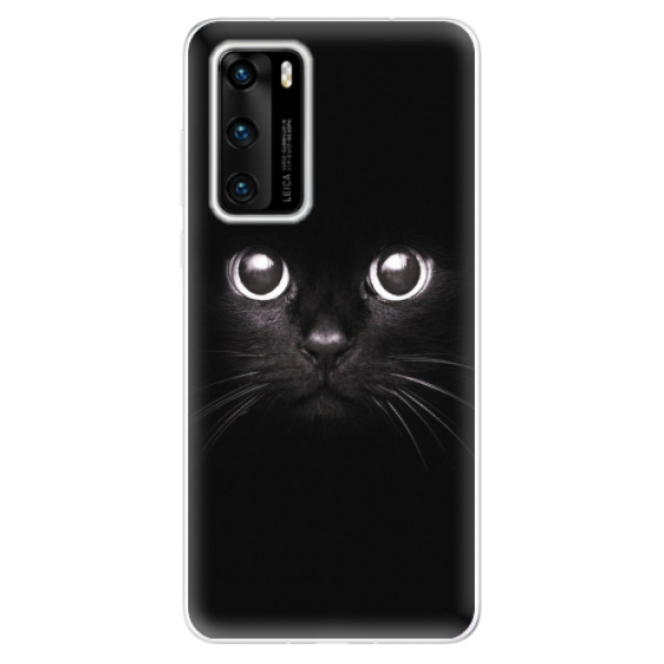 Odolné silikonové pouzdro iSaprio - Black Cat - Huawei P40