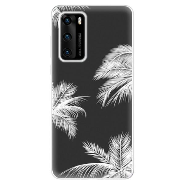 Odolné silikonové pouzdro iSaprio - White Palm - Huawei P40