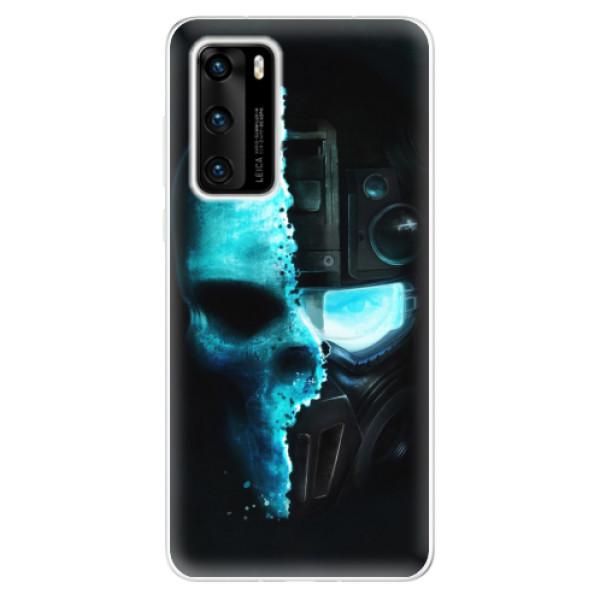 Odolné silikonové pouzdro iSaprio - Roboskull - Huawei P40