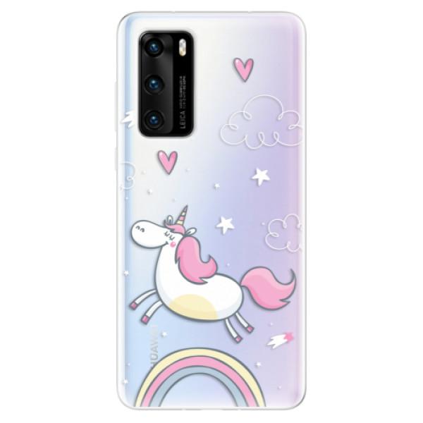Odolné silikonové pouzdro iSaprio - Unicorn 01 - Huawei P40