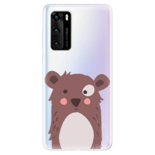 Odolné silikonové pouzdro iSaprio - Brown Bear - Huawei P40