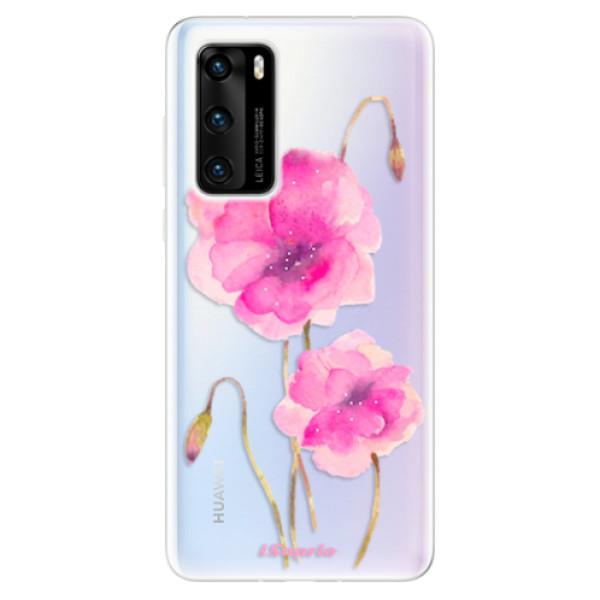 Odolné silikonové pouzdro iSaprio - Poppies 02 - Huawei P40