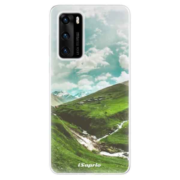 Odolné silikonové pouzdro iSaprio - Green Valley - Huawei P40