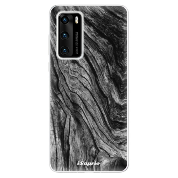 Odolné silikonové pouzdro iSaprio - Burned Wood - Huawei P40