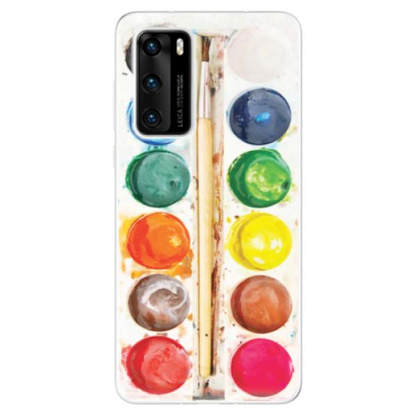 Odolné silikonové pouzdro iSaprio - Watercolors - Huawei P40