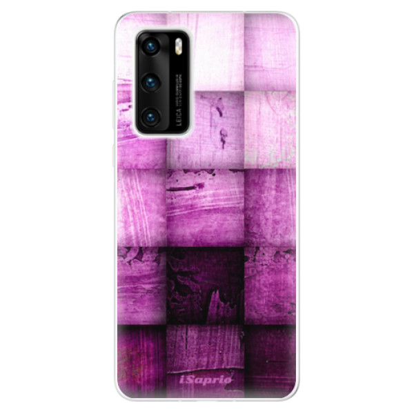 Odolné silikonové pouzdro iSaprio - Purple Squares - Huawei P40